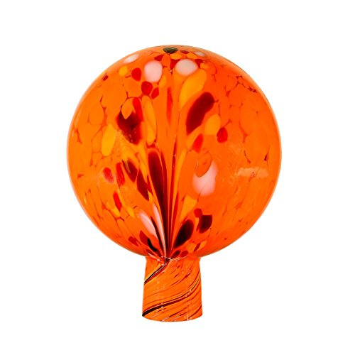 Rosenkugel aus Glas, 15 cm für außen, orange