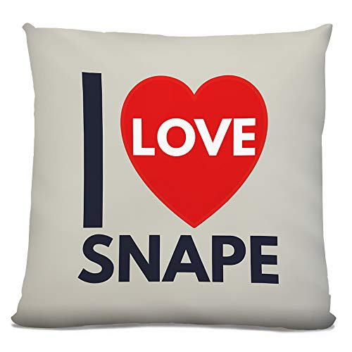 Fresh Publishing Ltd 'I Love Snape', UK Town, City, Village, Area Location, Classic 'Heart' Design, Faux Suede, 18in Cushion.
