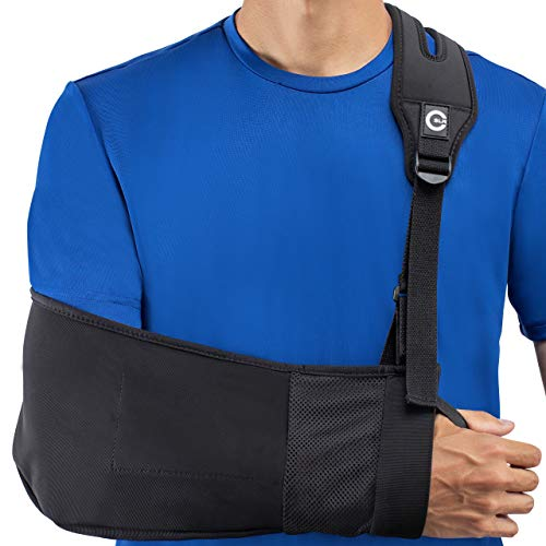 Medical Arm Sling with Split Strap Technology, Maximum Comfort, Ergonomic Design by Custom SLR