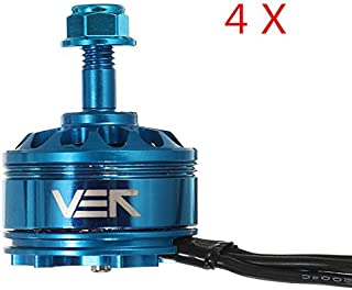 Desconocido Generic 4 PCS Cobra VEK Blue Edition CP2207 2207 2450KV 3-6S Brushless Motor for RC Drone FPV Racing