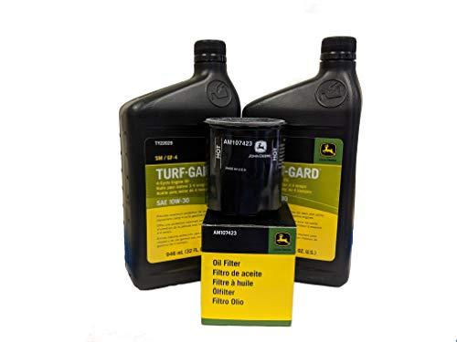 John Deere Original Equipment Oil Change Kit - (2) TY22029 + AM107423