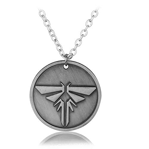 Hzzzzz Game The Last of Us Necklace Firefly Logo Pattern Metal Round Pendant Necklaces