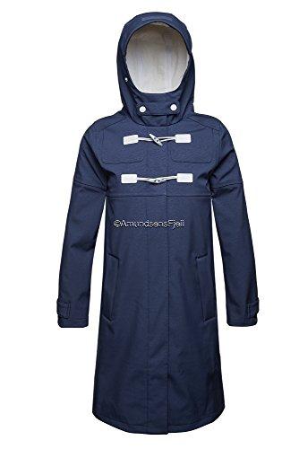 Ilse Jacobsen Rain 56 Long Softshell Raincoat Dark Indigo Größe 36