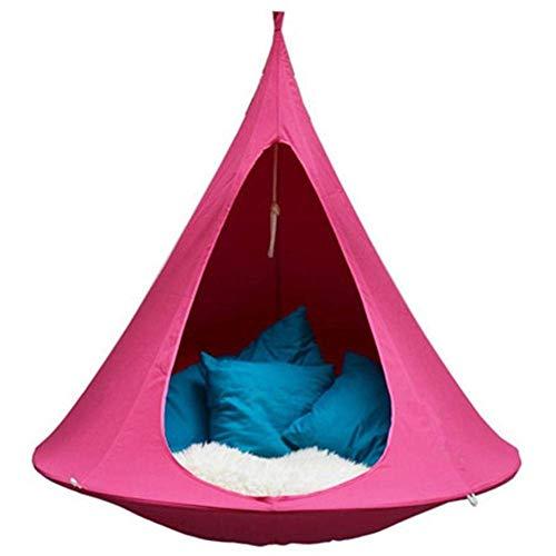 DX - Silla colgante para colgar, para niños, 100 Oxford, hamaca colgante para uso en interiores y exteriores, peso del rodamiento 440 libras
