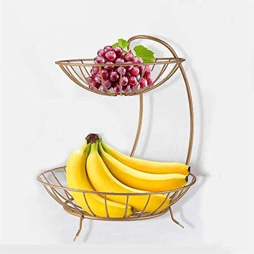 Cesta de frutero de mostrador Tazones de Frutas Cesta Rack Cromado Swinging...
