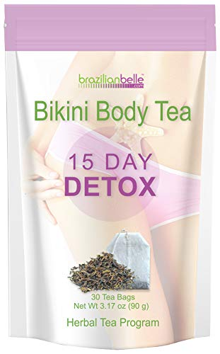 Bikini Body Detox Tea for Weight Loss - Best Slimming Tea on Amazon - Boosts Metabolism, Shrinks Love Handles and Improves Complexion (15 Day Detox)