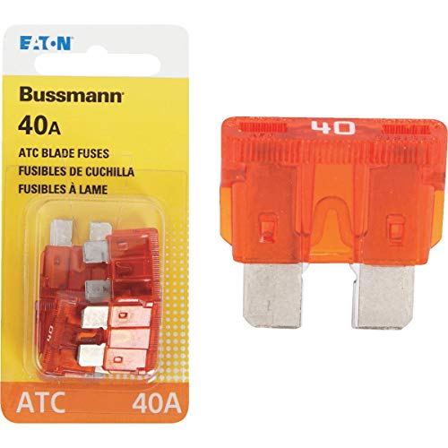 Bussmann (BP/ATC-40-RP 40 Amp ATC Blade Fuse, Pack of 5