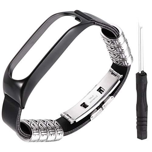 UKCOCO Correa de Repuesto de Reloj Compatible con Reloj Tom Tom Touch- Bow Knot Buckle Watch con Decoración de Metal de Lujo para Hombres/Mujeres