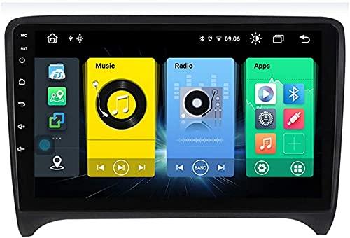 ZHFF Android Car Stereo Radio Double DIN Sat Nav Compatible con Audi TT MK2 8J 2006-2012 Navegación GPS Reproductor Multimedia con Pantalla táctil de 9 Pulgadas Receptor de Video con 4G DSP Carplay