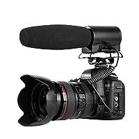 BOYA ビデオショットガンマイク スーパーカーディオイドコンデンサーマイク ブキャスト品質 内蔵フラッシュレコーダー & LCDディスプレイ Canon Nikon Sony DSLRカメラ YouTube Vlog Facebook Livestream用