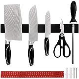 SaiXuan Portacoltelli Magnetico,40 cm Acciaio Inossidabile Barra Magnetica per Coltelli,per Tenere in Ordine coltelli Utensili da Cucina Attrezzi