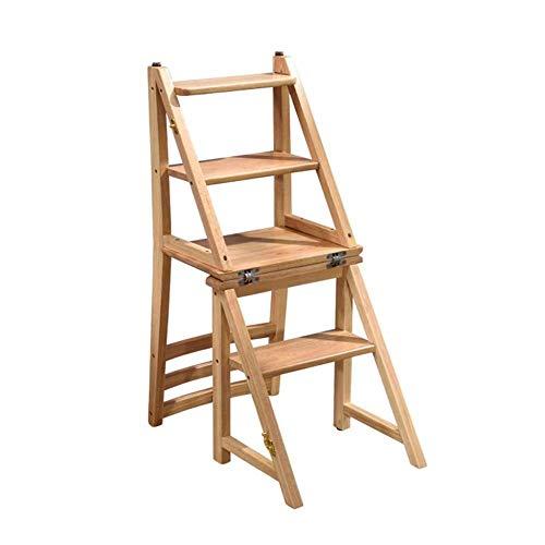 Echelle Escabeau 4 Tier Pliant Ladder Tabouret Portable Ménage Stairs Tabouret Multifonction Étape Intérieur en Bois Fleur étagère Tabouret QIQIDEDIAN