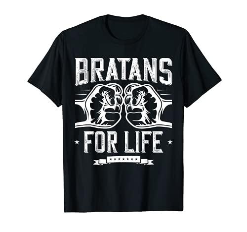 Bratan T-Shirt Bruder Hip Hop RapRussisch Brate Geschenk