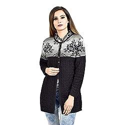 Shree Mark Womens/Ladies/Girls Woolen Full Sleeve Winter Wear Buttoned Cardigan and Womens/Ladies/Girls Woolen Full Sleeve Sweater
