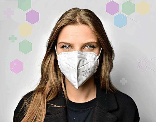 FFP2 Atemschutzmaske - Schachtel à 10 Stück CE-Zertifiziert mit verstellbarem Gummiband und anpassbarem Nasenbügel| 5 Filtrationsschichten, Schützt drinnen und draußen |QZY| - 5