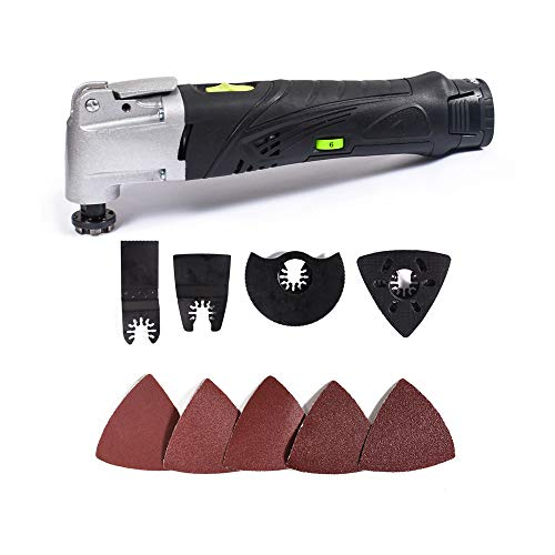 Best Buy! QWERTOUY 12V Li-ion Cordless Multi Tool 6 Speed Multifunctional Oscillating Tools Kit Elec...