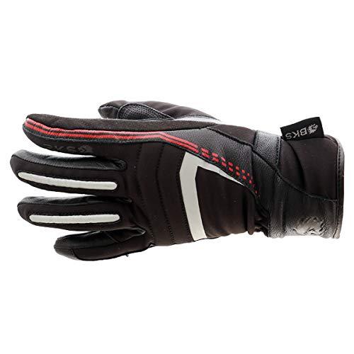 BKS 106 Ladies WP Motorcycle Gloves Waterproof Black J&S (S)