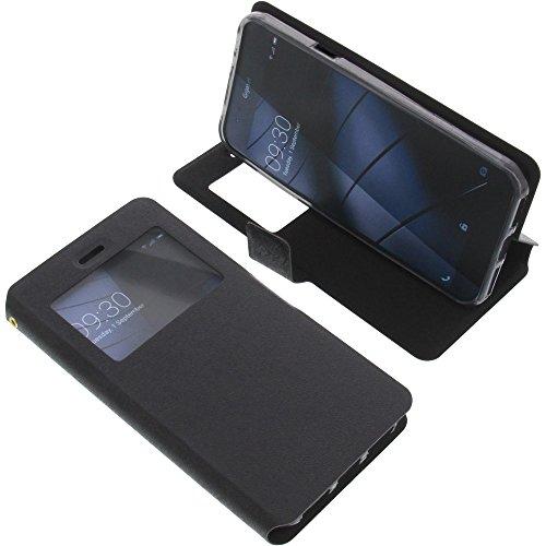 foto-kontor Tasche für Gigaset Me Book Style Fenster Ständer Schutz Hülle Buch schwarz