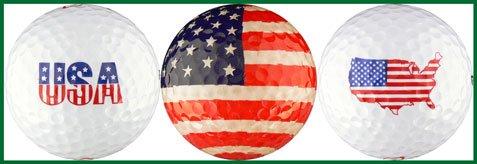 EnjoyLife Inc USA Flagge Vielzahl Golf Ball Geschenk-Set