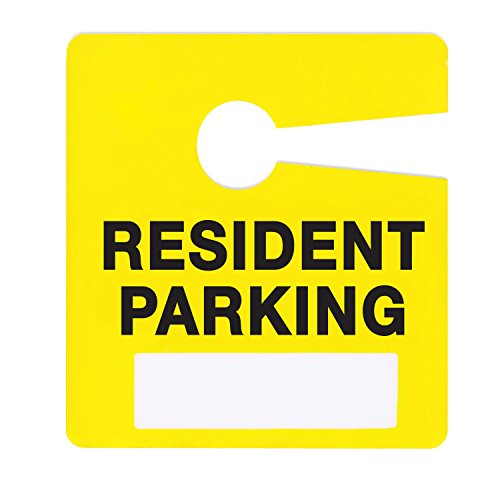 Resident Parking Permit Pass Stock Hang Tags for Apartments, Condominiums, Townhomes by Milcoast, 10 Pack (Yellow)