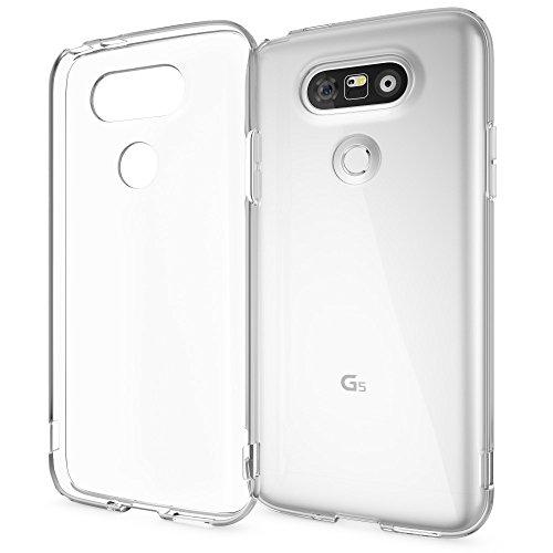 NALIA Custodia compatibile con LG G5, Cover Protezione TPU Silicone Trasparente Sottile Case, Copertura Gomma Lucida Chiaro, Morbido Telefono Cellulare Ultra-Slim Protettiva Bumper Guscio