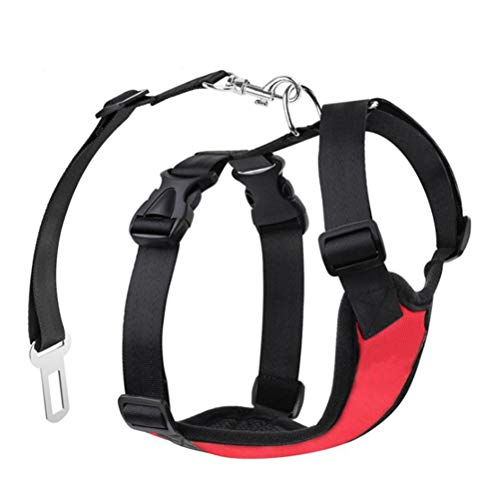 Dog Safety Vest Harness Breathable Mesh Pet Car Harness Vehicle Seat Belt Easy Control for Small Medium Dogs Cats (Small)