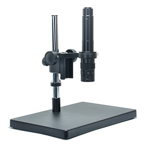 Monocular Big Heavy Duty Metal Boom Stereo Microscope Camera Table Stand Holder 50mm Ring +300X Zoon C-Mount Lens (300X Zoon Lens)