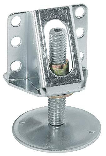 Gedotec Möbelfuss robust Sockel-Höhenversteller stabil Sockelfüße Küche mit Anschraubwinkel | Verstellschraube M12 x 65 mm | Tragkraft 200 kg | Verstellfüße Stahl verzinkt | 1 Stück - Fuß mit Winkel