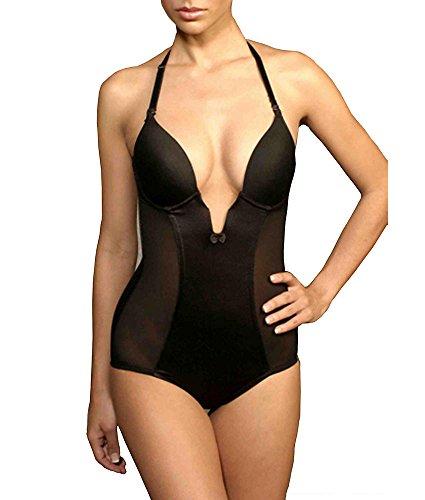 Va Bien Firm Control Plunge Bodysuit, 38D, Nude
