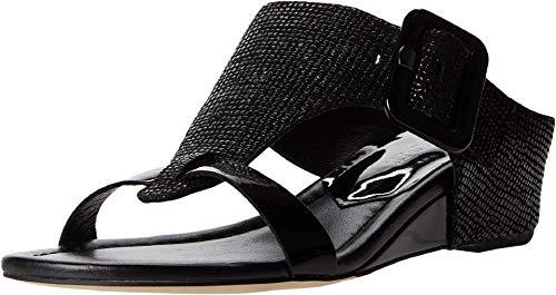 Donald J Pliner Women's Wedge Sandal, Black, 8.5
