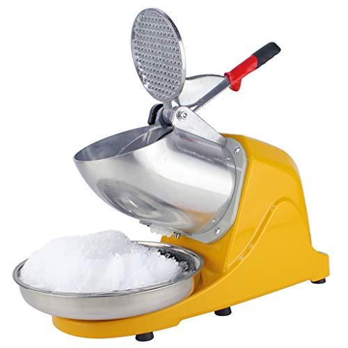 LXX Máquina trituradora de Hielo, Máquina de Hielo eléctrica, Máquina para fabricar Conos de Nieve de Acero Inoxidable para Helados, Bebidas frías, Postre de Frutas y cóctel, 65 kg/Hora
