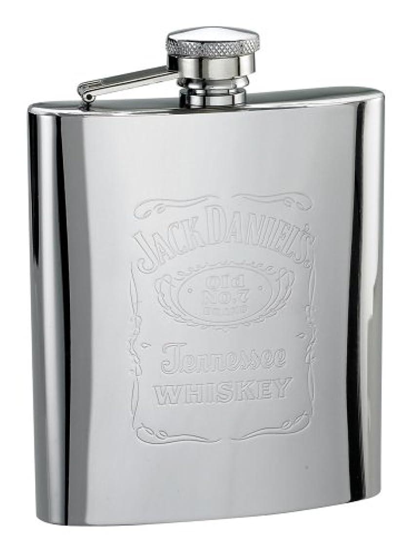 Jack Daniels Licensed Barware 5588 Label Flask, 7 oz, Silver