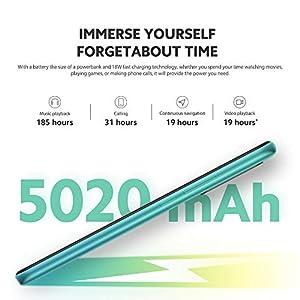 "Xiaomi Redmi 9 Teléfono 4GB RAM + 64GB ROM, 6.53"" FHD+ Dot Drop Pantalla, Media tek Helio G80 Octa-Core Procesador, 8MP Frontal & 13MP+8MP+5MP+2MP AI Quad Cámara Trasera Versión Global (Verde)"