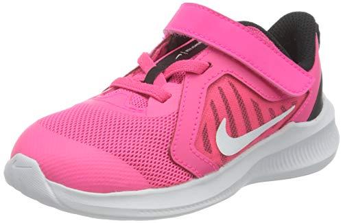 Nike Unisex Baby Downshifter 10 (TDV) Sneaker, Hyper Pink/White-Black, 25 EU