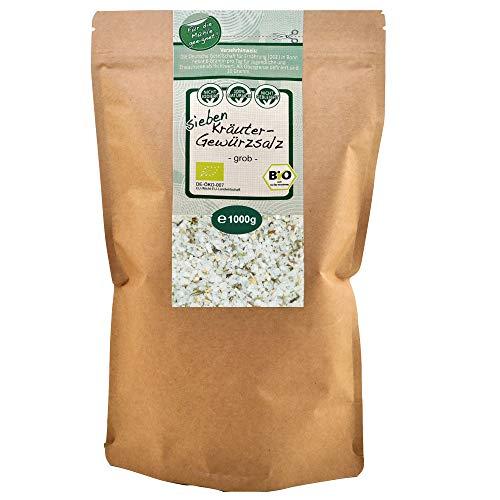 direct&friendly grobes Meersalz 7 Bio Kräuter Salz (1 kg)