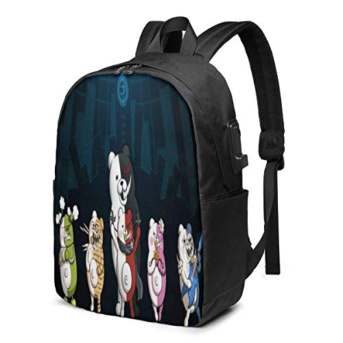 Danganron-Pa 3D Printing Anime/Cartoon Backpack,Unisex Fashion Shoulder Rucksack Laptop Travel Bag.Student Children's Personalized School Bags, Meal Bags