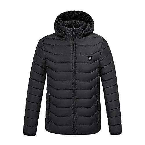 Angelay-Tian Herren Outdoor Gilets Körperwärmer, Heizung Smart Heizung Kleidung Winterlicht Dünn Heizschutz Jacke USB Konstant Temperatur Heizungsmantel (Color : B, Size : XXX-Large)