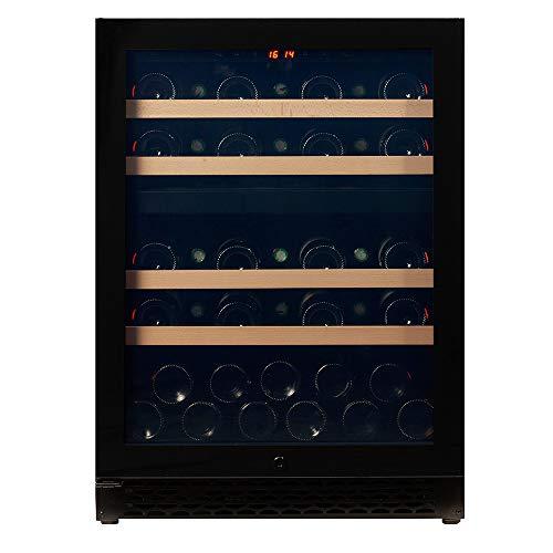 Pevino Weinkühlschränke für 39 Flaschen | Premium Weinkühler mit zwei Temperaturzonen 5-20°C | Energieeffizienzklasse A | Fachvorderkanten aus Buchenholz | Des Weinkühlchrankes ist für Einbau