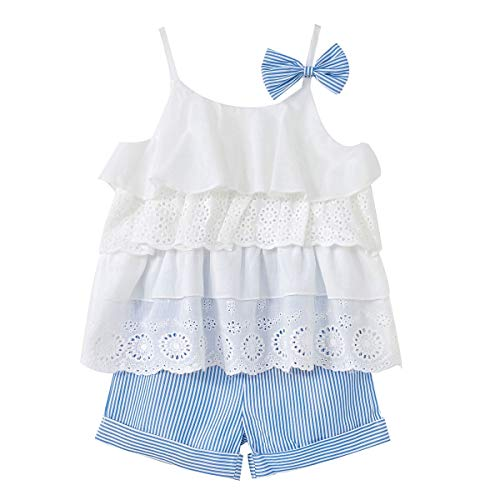 (50% OFF) Lace Bow Top W/ Pants Outfit for Baby Girls $9.00 – Coupon Code