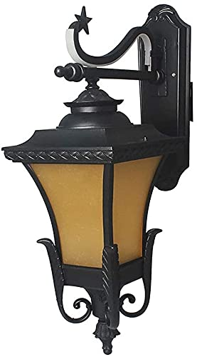 Lámpara de pared a prueba de polvo a prueba de agu Luces de pared al aire libre, red eléctrica impermeable Luces de jardín LED Lámpara de seguridad Lámpara de seguridad clásica Vintage Linterna Linter