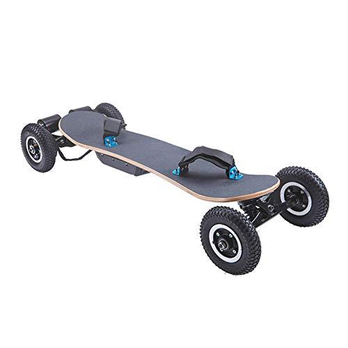 Ewila Skateboards Planche à roulettes Électrique Mountainboard, 3300w Double Moteur, Max Range 18.6 Miles, 8 Couches d'Érable Longboard avec Télécommande sans Fil Tout-Terrain, Entrepôt Européen