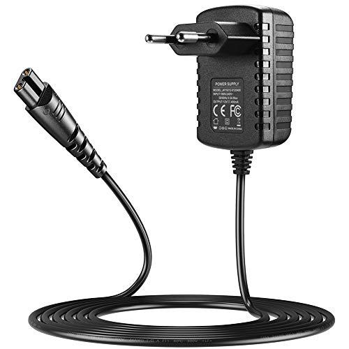 SoulBay Cargador de 12 V para recortadora de barba Remington F5-5800 F7800 F5800 F5790 F4790 R5150 R6130 R-6150 MS2-390 MS3-2700 MS680 R9100 1204 N. Cable de repuesto
