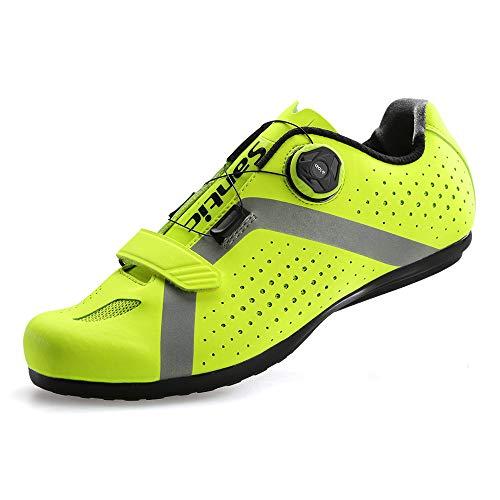 [サンティック] メンズ サイクリング ロードバイク シューズ ノンロック 自転車 超軽量 初心者 2A グリーン 26.5 cm 2A