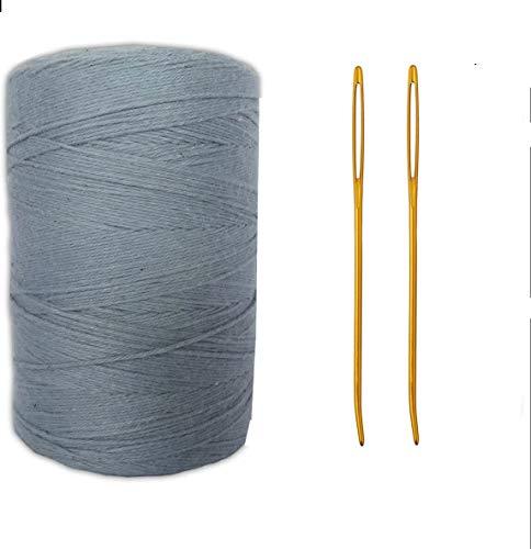 Webgarn mit Webnadel-Bündel – Baumwollgarn Teppichgarn – Lap Loom Warp Garn – Cricket Loom Weaving Shuttle – Hilo para tejer a Crochet – Powder Blue Thread (Garn und Nadeln)