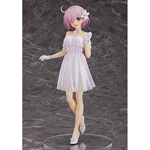 Figuras Anime Baratas Figura de Mash Kyrielight vestido rosa Shielder Pvc figuras de acción juguetes hermosa muñeca modelo alto aproximadamente 23Cm Adornos Coleccionables Juguete Animaciones