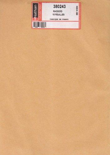 10 feuilles rhodoid (SUPPORTS DECO. PLAST.)