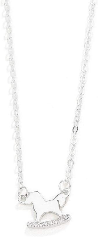 half discountstore145 Women's Pendants Rhinestone P cheap Silver Hobbyhorse