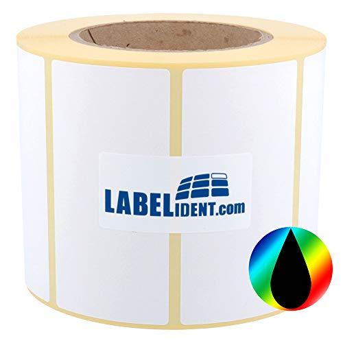 Labelident Inkjet Etiketten auf Rolle - 102 x 76 mm - 870 Papier Etiketten für Primera, Epson Drucker 3 Zoll, hochglänzend, selbstklebend, beschichtet