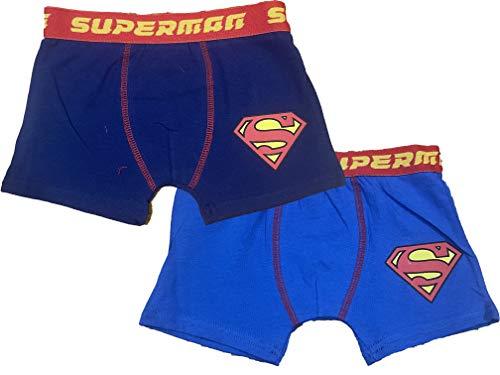 Magic plus Superman Boxershorts für Kinder, 2 Stück, aus Baumwolle, Blau 6 Jahre