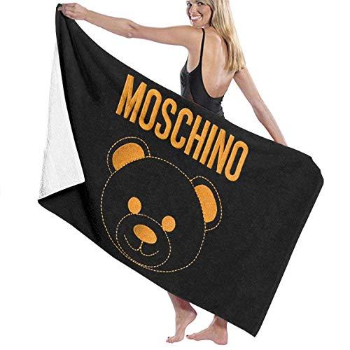 maichengxuan Unisex Beach Towel, Moschino Logo Lightweight & Quick Dry Microfiber Towel Pool Towel Large Travel Towel